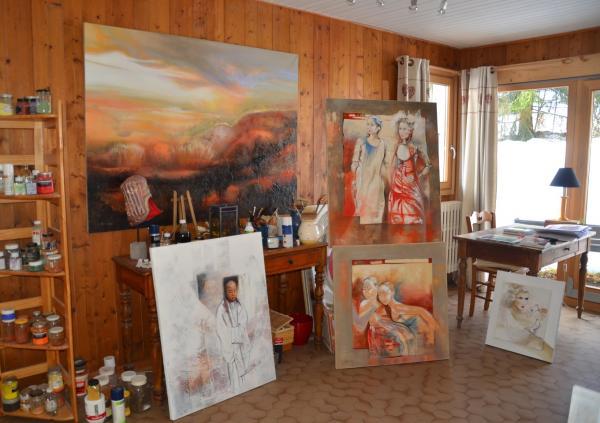 peintures dans l'atelier 3