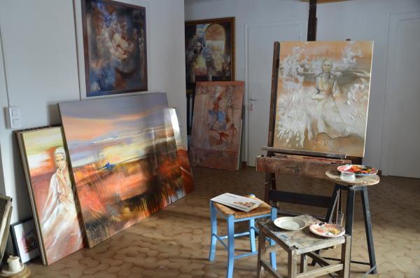 peintures dans l'atelier 2